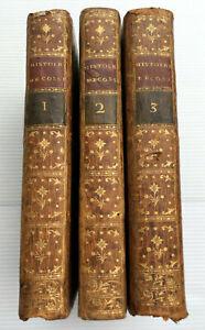 1785 HISTOIRE ECOSSE ROYAUTE ROBERTSON SCOTLAND MARIE STUART 3V LIVRE OLD BOOK