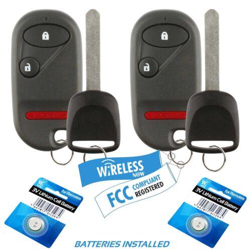 2 Car Fob Keyless Entry Remote 3Btn For 2002 2003 2004 Honda CR-V CRV Key