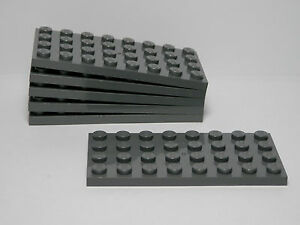 Lego Lot of 100 New Dark Bluish Gray Panels 1 x 4 x 1 Pieces Parts