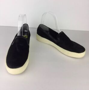 457b36434505c Sam Edelman Becker Slip-On Sneakers Shoes Black Calf Hair Size 5