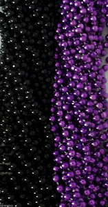 Purple-Black-Ravens-Mardi-Gras-Beads-Football-Tailgate-Party-Favors-Lot-24-48-72