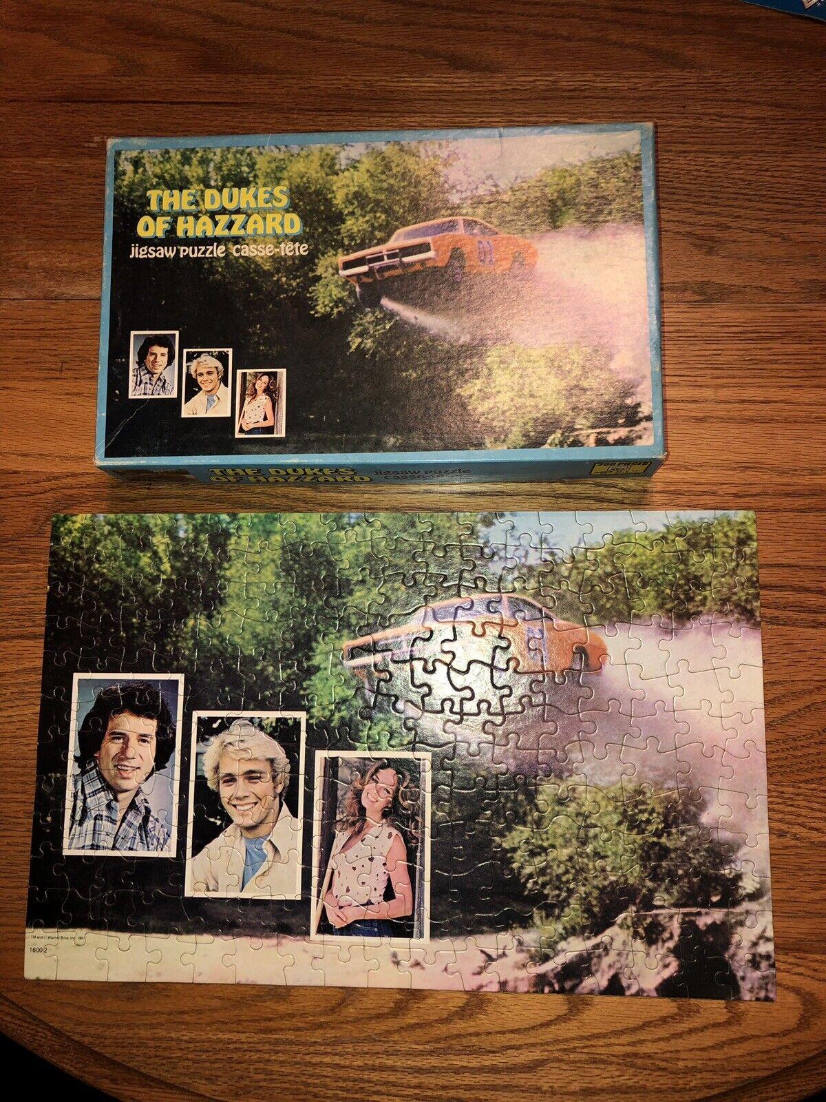 Dukes of Hazzard vintage General Lee puzzle COMPLETE RARE