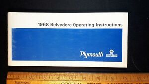 1968-PLYMOUTH-Belvedere-Original-NOS-Owners-Manual-Very-Good-Condition-US