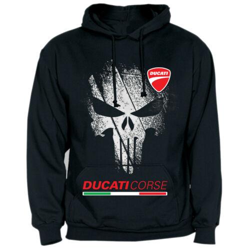 Sweat-Shirt Ducati Desmo Punisher Panigale avec Capuche Racing Piste Strada