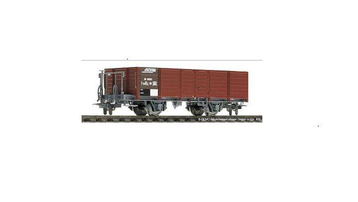 Bemo 2254 033 2254033 Schmalspur-Hochbordgüterwagen Ek6033 RhB Ep5 brown H0m