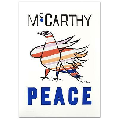 """Peace"""" Hand Pulled Litho by the RE Society Originally by Ben Shahn NEW UNFRAMED"""