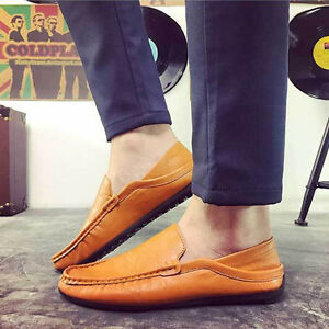 Men-039-s-Casual-Shoes-Leather-Moccasins-Driving-Boat-Slip-On-Loafers-Flats-Shoes
