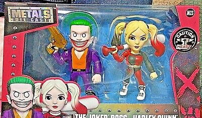 DIE CAST METALS 4 INCH SUICIDE SQUAD THE JOKER BOSS /& HARLEY QUINN M23