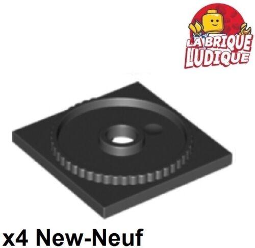 Lego 4x turntable plaque tournante square base 4x4 noir//black 61485 NEUF