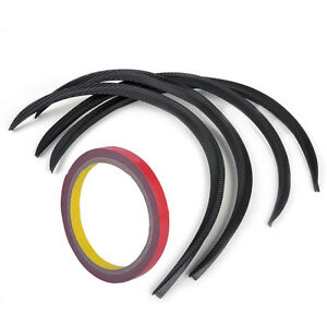 4X-Auto-Radlauf-Verbreiterung-Schutz-Kohlefaser-Typ-Kotfluegelverbreiterung-Strip
