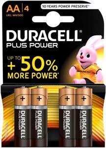 DURACELL-Pila-Batteria-Plus-Power-Alkaline-Alcalina-1-5V-LR6-MN1500-AA-4-pezzi