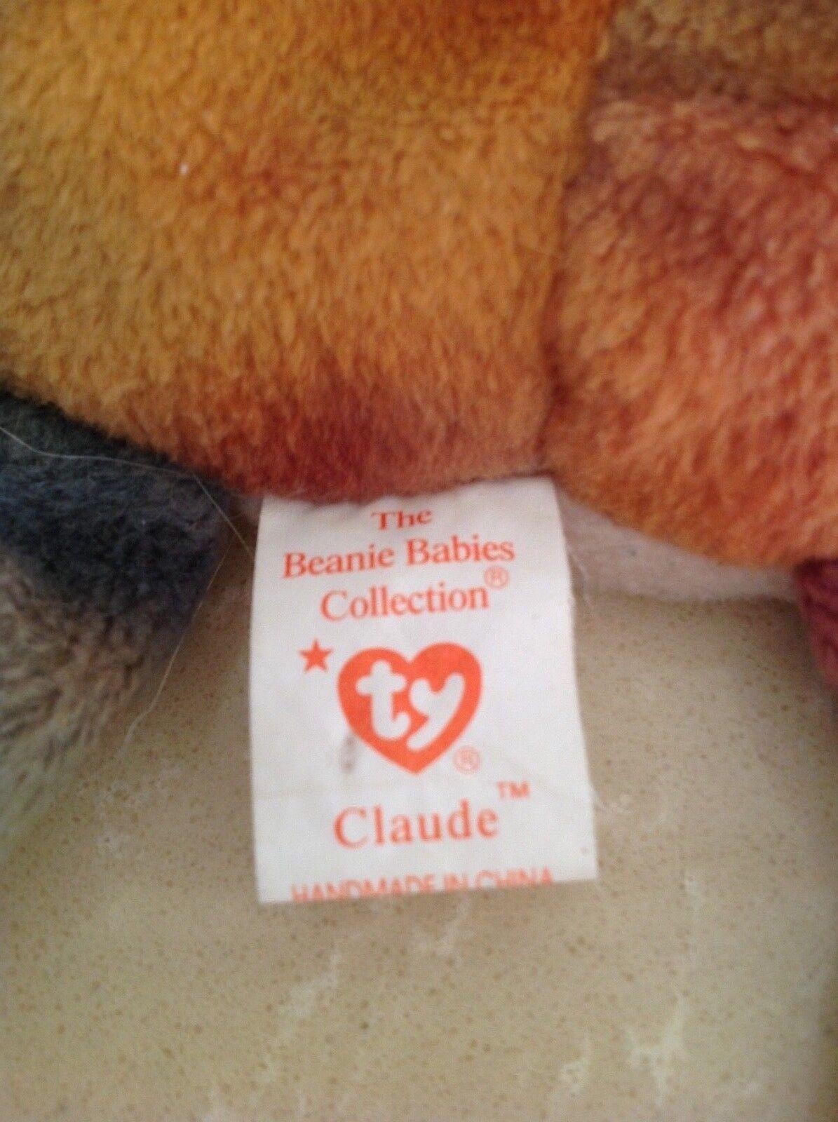 Claude the Crab Beanie Beanie Beanie Babies DOB September 3 1996 Retired rare 6b6712