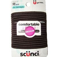 Scunci Comfortable All Day Medium Hold, Black 18 Ea (pack Of 3) on sale