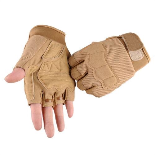 Fashion Unisex Men Half Finger Gloves Tactical Sports Mountaineering Ride Gloves