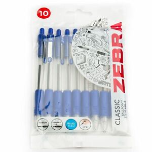 Zebra-Z-Grip-Retractable-Ballpoint-Pens-1-0mm-Blue-Ink-Pack-of-10