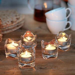 10 X Ikea Vasnas Kerzenhalter Teelichthalter Glas Teelichtglaser