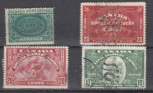 CANADA 1898 - 1939 SPECIAL DELIVERY ISSUES