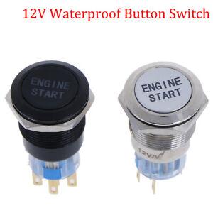 Start  Push  Button  Switch Stainless  Steel car van dash board starter switch
