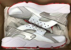 Details about Nike Air Huarache Run Zip QS Shoe Palace 25th Anniversary Silver Red Limited 8