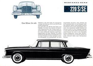 Mercedes-220-S-SE-Prospekt-D-1959-7-59-brochure-W-111-Autoprospekt-broschyr-Auto