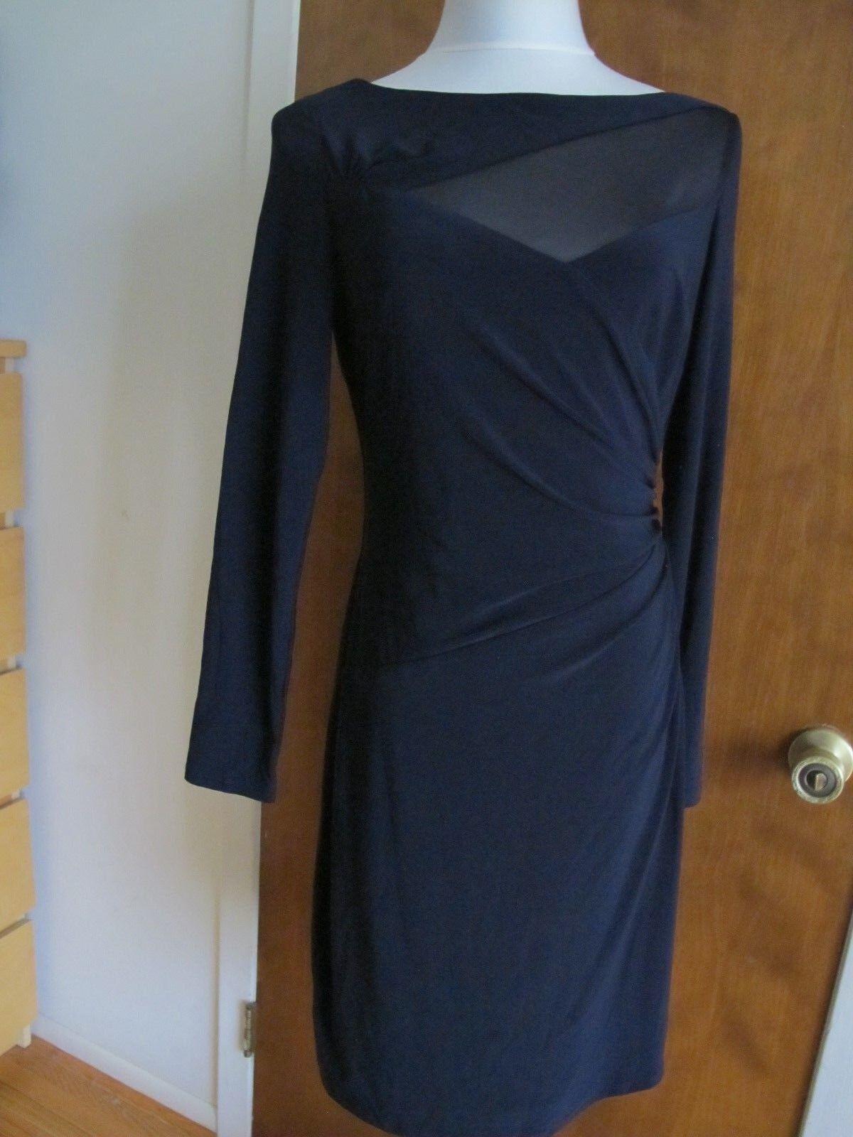 Lauren Ralph Lauren women's navy insert mesh evening NWT dress size 10
