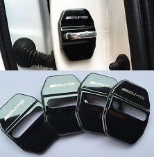 4PCS AMG Logo Car Türschlösser Edelstahl Schwarz Schutzabdeckung Für Benz