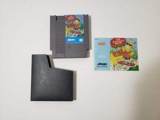 The Simpsons Bart Vs. The Space Mutants w/Manual Nintendo NES FREE SHIPPING