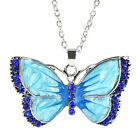 Women Jewelry Enamel Butterfly Dragonfly Crystal Pendant Necklace Fashion Chain