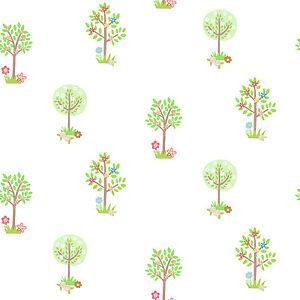 Essener-Tiny-Tots-g45164-Papel-pintado-Arboles-Flores-Bosque-habitacion-infantil
