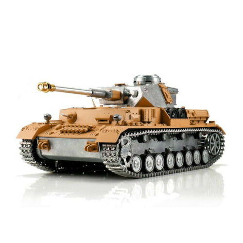 116 Torro German Panzer IV RC Tank 2.4GHz Airsoft Metal Edition Unpainted