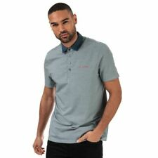 Men's Ted Baker Holein Stripe Lightweight Short sleeve Polo Shirt in Blue