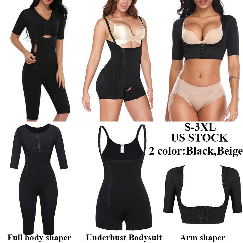 f6061ed1facbb Fajas Bodysuit Body Shaper Post Surgery Seamless Compression Slimming  Shapewear