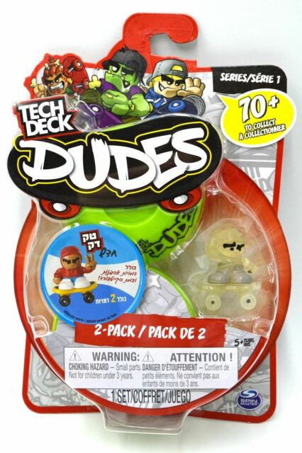 Tech Deck Dudes - 2-Pack Collectible Skater Figures with Boards