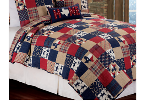 NEW C/&F Home Texas Dalton Multicolored Quilt Full//Queen Size