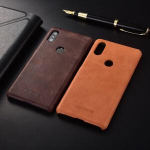wholesale dealer a1a94 5a155 Details about For Xiaomi Mi Mix 2S Retro Slim Genuine Leather Matte Skin  Business Cover Case