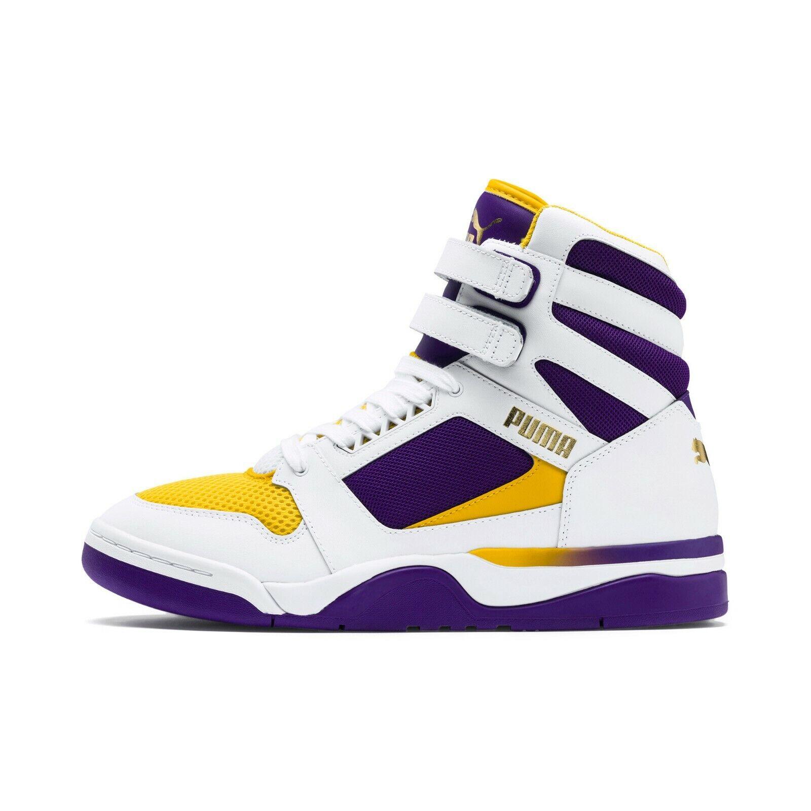 Puma Men's PALACE GUARD MID FINALS shoes Puma White Prism purple 370596-01 d
