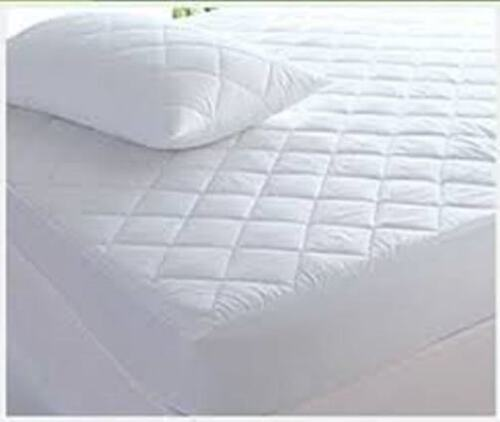 Egyptian Cotton Mattress Protector Quilted 30cm Deep Cotton Skirt All sizes