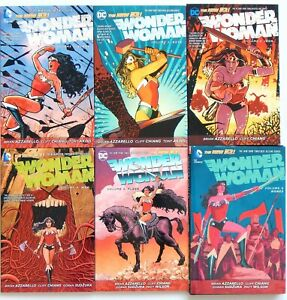 Wonder Woman TPB 1-6 Azzarello Chiang DC Comics New 52 Graphic Novel - $102.00