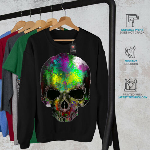 Colorful New Black Rock Skull Men Felpa Sugar qHEU8HP