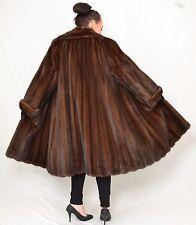US967 big Mink fur coat jacket Swinger Demi Buff НОРКОВАЯ ШУБА Nerzmantel ca.4XL