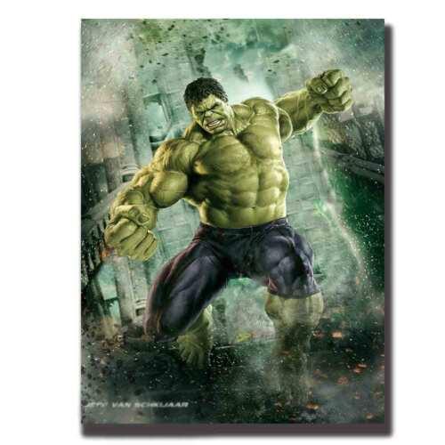 Art Hulk The Avengers Marvel Superheroes Movie-Fabric-POSTER 8x12 24x36 hot gift