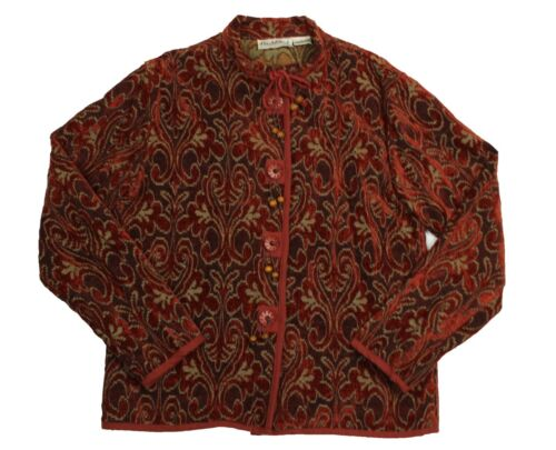 Flashback Taille Boutonné Rouge Grande Veste Tapestry Femmes w7TwvqO