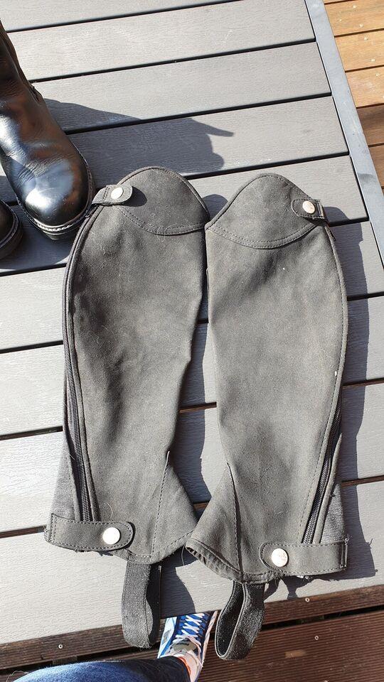 Ridestøvler, ridestøvler med sikkerheds jern+leggings,