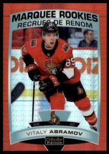 2019-20-OPC-Platinum-Red-Prism-Marquee-Rookies-189-Vitaly-Abramov-RC-199