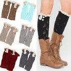 Womens Fashion Leg Warmers Winter Knit Crochet Cotton Legging Stockings 9 Colors