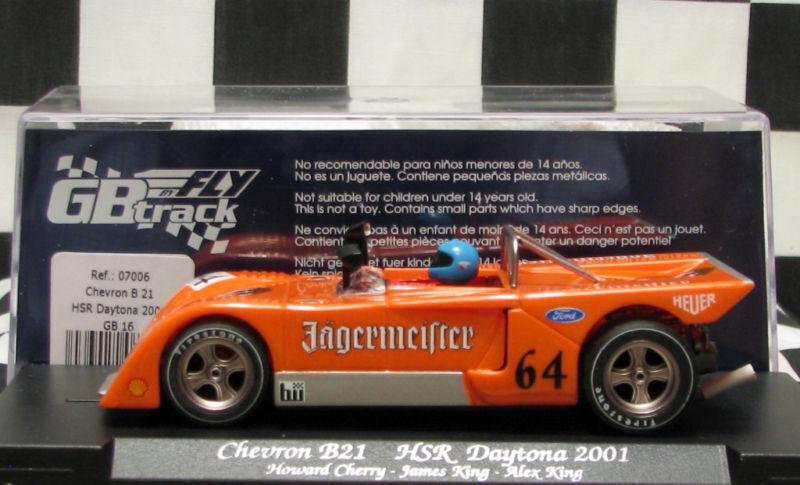 Fly gb16 Chevron B21  Jagermeister  perfecto y poco común condición 1 32 Slot Car
