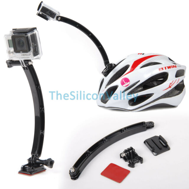 Helmet Extension Self Arm Mount Holder For Gopro Hero 4 3+ 2 1 Camera Camcorder
