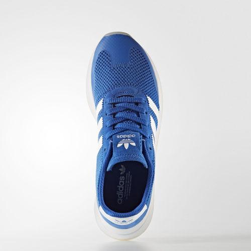 Femmes Adidas BA7757 Flashback Chaussures de course bleu blanc