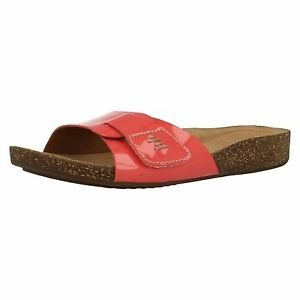 a3088133308e Clarks Perri Reef Ladies Slip On Coral Patent Leather Mule Summer ...