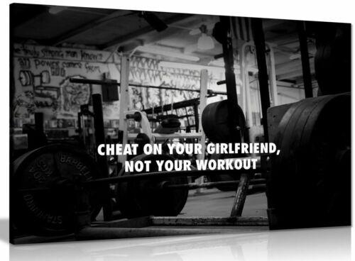 Gym Motivation Canvas Wall Art Picture Print